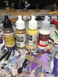 painting gold in non metallic metal u2014 daniel o u0027connor u0027s hobby corner