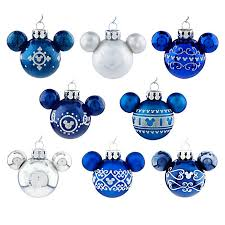 ornament set mini mickey mouse ears blue