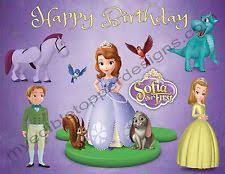 sofia edible image cake cupcake cookie topper 1 4