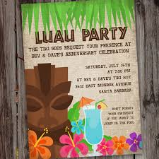 luau invitation luau invite hawaiian luau birthday party