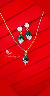 best gift for wife 2017 pe42 daphne pine green zircon designer pendant earrings for gift