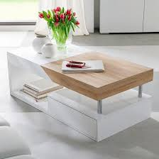 white end table with storage hope storage coffee table in sawn oak with white drawers