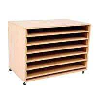 Basket Storage Shelves by Basket Storage Shelves Mobile A1 Paper Unit Completet 6 Pull Out