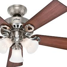 hunter brushed nickel ceiling fan with light ceiling designs