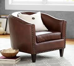 Armchair Club Harlow Leather Armchair Pottery Barn