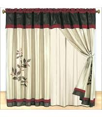 Priscilla Curtains With Attached Valance Priscilla Curtains With Attached Valance Burgundy Lace Window 2