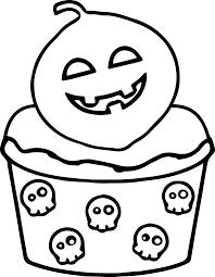 cupcake coloring page scream halloween cupcake coloring page wecoloringpage