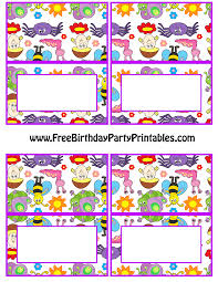 bug butterfly birthday party printables