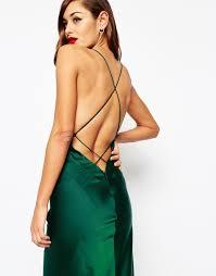 image 3 of asos red carpet deep plunge soft fishtail maxi dress