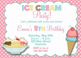 Party Cards Invitations To Print Ice Cream Birthday Invitations Template Best Template Collection