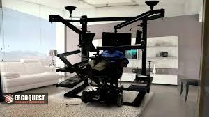 cool design reclining computer desk exquisite ideas ergoquest zero