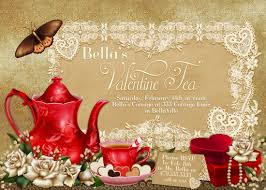 valentine tea party invitation valentines day party tea