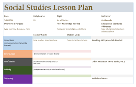 social studies lesson plan template u2013 microsoft word templates