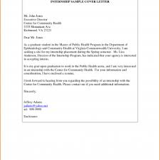 college student internship cover letter good cover letter example