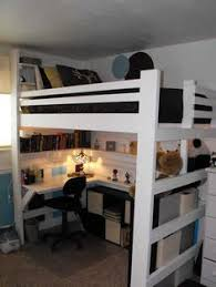 Make Bunk Bed Desk by Full Size Heavy Duty Loft Bed With Stair Case Shelf Stair Case
