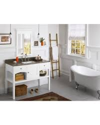 Bargains On Ronbow Langley Inch Bathroom Vanity Set In White - White 48 inch bath vanity
