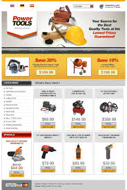 website template 20023 power tools master custom website template