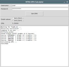 github stekern ntnu gpa calculator ntnu grade fetcher and gpa