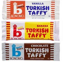 amazon com bonomo turkish taffy candy 3 flavor 9 bar variety