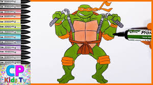 michelangelo ninja turtles coloring pages for kids 4 how to