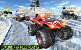 monster trucks crashing videos monster truck racing game pvp android apps on google play