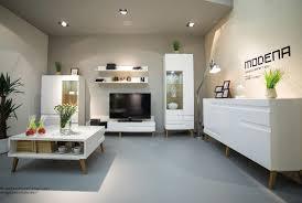 Wohnzimmer Modern Und Gem Lich Vitrine Modena Vitrinenschrank In Hochglanz Weiß Mdf Ebay