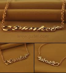gold custom name necklace make your own my name necklace crown silver personalized couples
