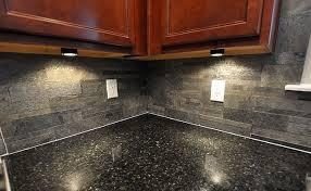 slate tile kitchen backsplash black countertop slate brick backsplash for the home