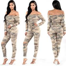 camouflage jumpsuit womens 2018 wholesale 2017new fashion camouflage jumpsuit