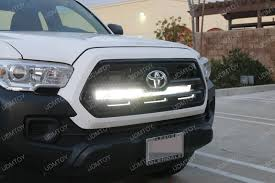 tacoma grill light bar led light bar sits subtly behind a toyota tacoma grille ijdmtoy