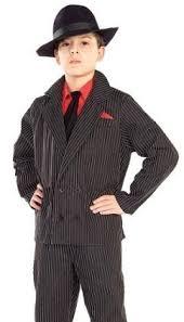 Mobster Halloween Costumes Amazon Kids Gangster Suit Boys Pinstripe Halloween Costume