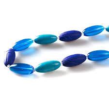 blue beaded necklace images Emma modern short blue glass necklace jpg
