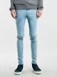 Ripped Knee Jeans Mens Black Ripped Knee Stretch Skinny Fit Jeans Knee Stretches Guy