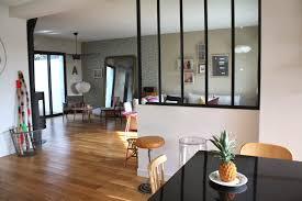 cloison vitree cuisine salon verrière et suspension friture j adore salon