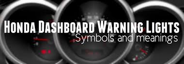 honda crv warning lights honda dashboard warning light symbols and meanings