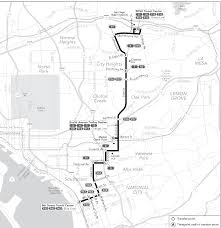 San Diego Public Transportation Map by Route 955 Timetables