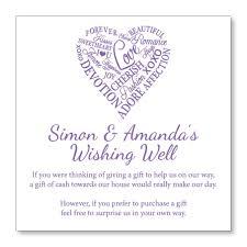 make your own wedding registry words of wedding wishing well or gift registry cards custom