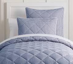 gingham percale cozy comforter pottery barn kids