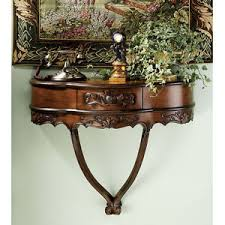 wall mounted console table hand carved french style antique replica wall mounted console table
