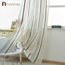 online get cheap striped linen curtains aliexpress com alibaba