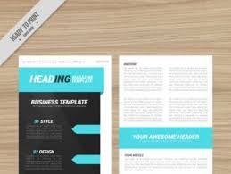 design magazine template free vectors ui download