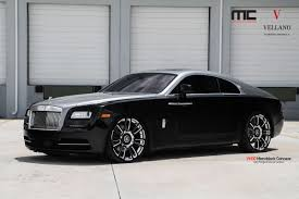 rolls royce wraith modified rolls royce wraith coupe sitting on vellano vm30 monoblock forged