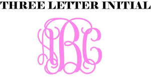 three letter monogram monogram ettiquette 101 sew southern designs