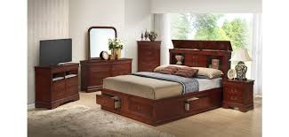 Bookcase Storage Bed Bookcase Storage Bed Cherry Finish Bedroom Set G3100b