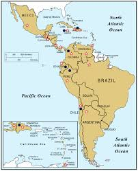 Blank Map Latin America by Political Map Of Central America And The Caribbean Nations Maps