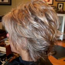 how to blend grey hair with highlights photos of real hair behind my chair with a brief description of my