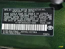 toyota camry color code 2010 camry color code 6v4 for spruce mica photo 78701951