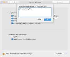 How To Lock A Laptop To A Desk by How To Set A Lock Message On The Login Window Of Your Mac Apple