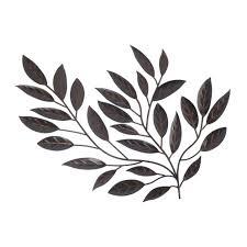 wonderfull design metal leaves wall decor peaceful inspiration