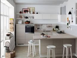 cuisine table meuble de cuisine avec table integree salle manger blanche ilot l